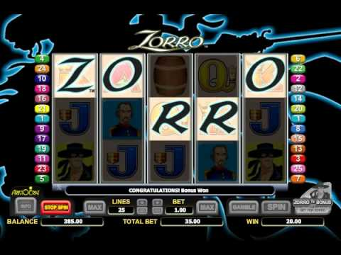 play free slot machine zorro