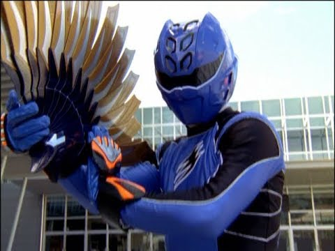 Power Rangers Jungle Fury - Blind Leading the Blind - Blue Ranger and the Jungle Fan (Episode 10)