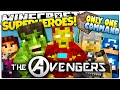 Minecraft THE AVENGERS IN ONLY ONE COMMAND BLOCK How To Be A Superhero One Command Creation mp3