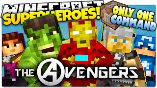 Minecraft | THE AVENGERS IN ONLY ONE COMMAND BLOCK! | How To Be A Superhero! (One Command Creation)