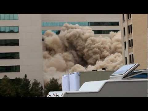 Thomas Building implosion  downtown Dallas - 11/18/12