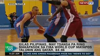 Gilas Pilipinas, may tsansa pa ring makapasok sa FIBA World Cup matapos talunin ang Qatar, 84-86