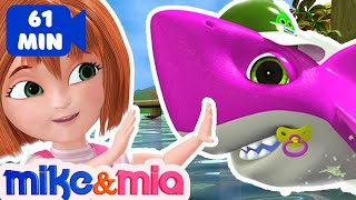 Baby Shark Doo Doo Doo Doo | Sing and Dance | Animal Songs | Nursery Rhymes by Mike and Mia