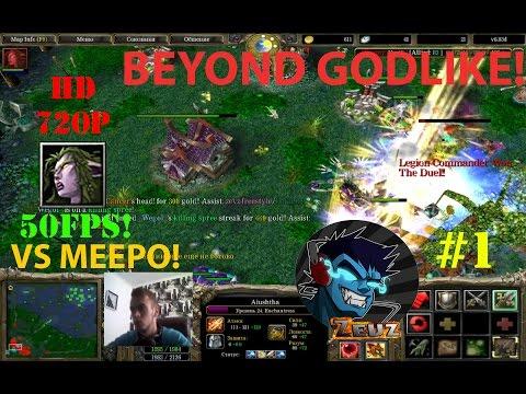 ★DoTa 6.83d Aiushtha, Enchantress - GamePlay | Guide★ Beyond Godlike vs Meepo! ★ #1