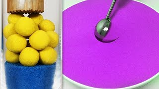 Very Satisfying and Relaxing Compilation 113 Kinetic Sand ASMR