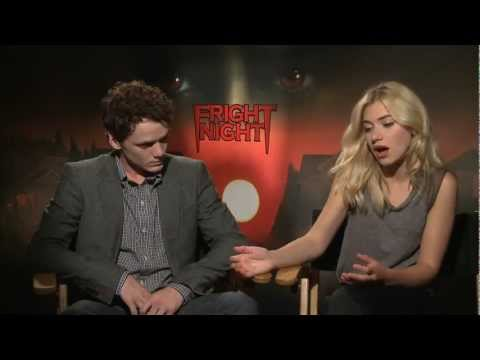 Anton Yelchin and Imogen Poots Interview Fright Night