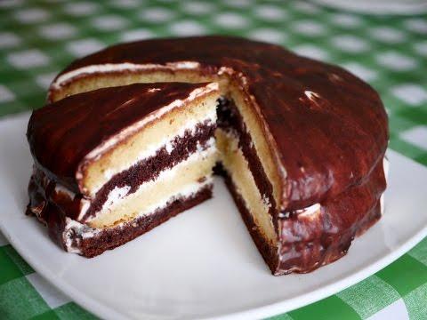 Очень простой и вкусный торт со сметанным кремом