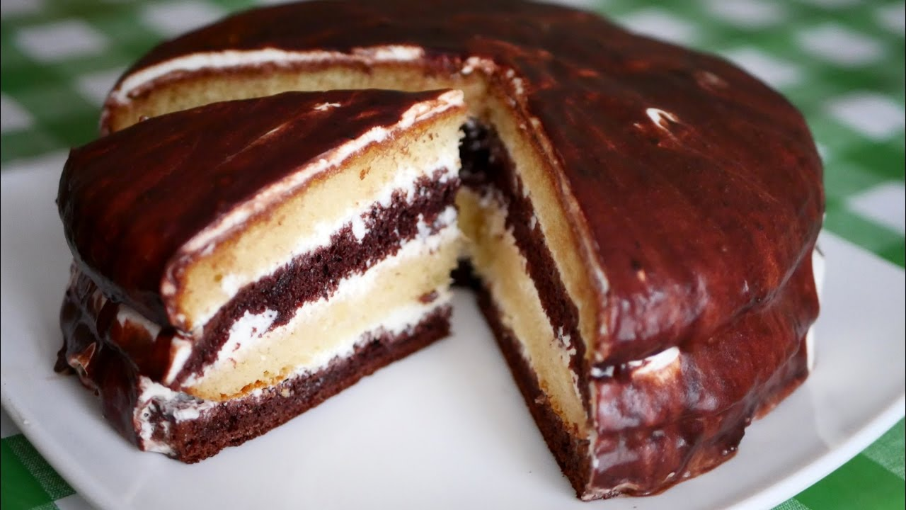 бисквитный торт со сметаной очень вкусный и простой рецепт
