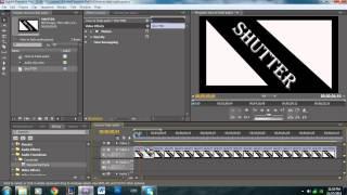 Shutter Effect Tutorial - Adobe Premiere Pro