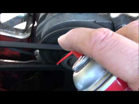 HOW TO FIX A SQUEAKING SLIPPING BELT THE EASY WAY . DO IT YOURSELF WITH CRC  !!!