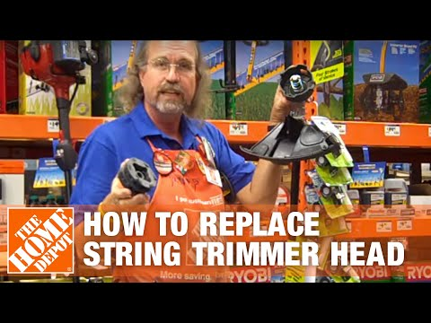 How To Replace a String Trimmer Head - The Home Depot