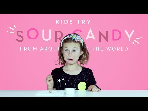 Kids Try Sour Candy from Around the World   Kids Try   HiHo Kids
