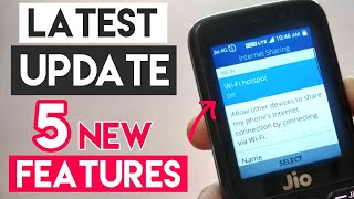 Jio Phone Latest New Update | Top 5 New Features | Hotspot ?