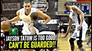 Jayson Tatum CAN'T BE GUARDED 1 on 1!! Tells Defender He's TOO LITTLE at Danny Rump Classic!!