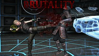 Mortal Kombat X - All Characters Performed (Brutal Kick) Brutality