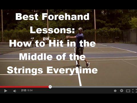 Forehand Groundstroke Lesson Forehand Tennis Lesson Best