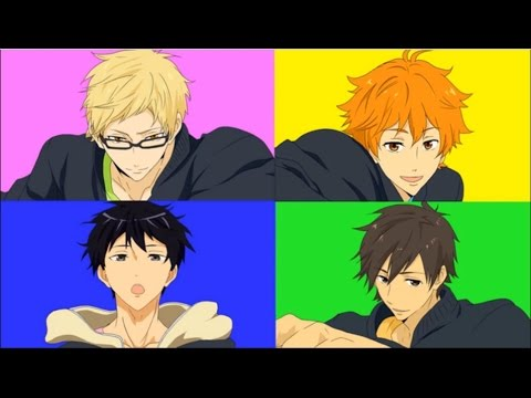 【MAD】Haikyuu!! X Free!