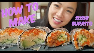 How to make SUSHI BURRITO (QUICK and EASY) | SASVlogs