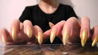 ASMR Nail painting and tapping in plastic HD