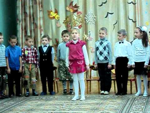 дети поют песню на утреннике