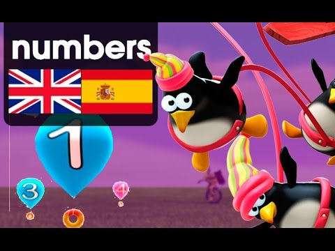 Learning numbers English - Spanish. Zumbers ep.2