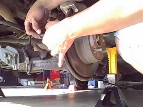 2003 Honda CRV Rear brake pad change - YouTube