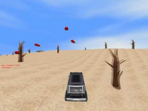 Blitz 3D - Demo game - Knocking over pigs
