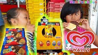 Belanja ke Alfamart Beli Disney Coll-Egg-Tible Alfamart & icip icip es krim terbaru