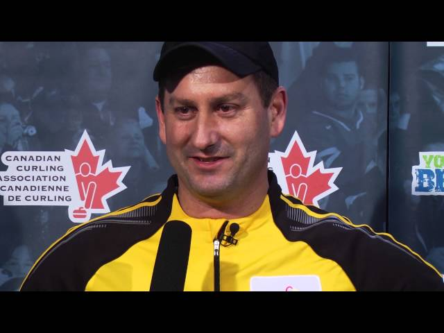 Draw 7 Media Scrum - 2013 Tim Hortons Brier