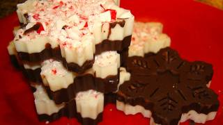 ❄ Peppermint Bark Snowflakes Recipe ❄