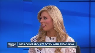 Miss Colorado Kelley Johnson talks to 7NEWS about controversial criticism by hosts on