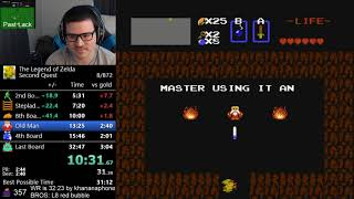 (32:38) The Legend of Zelda - Second Quest speedrun [PB]