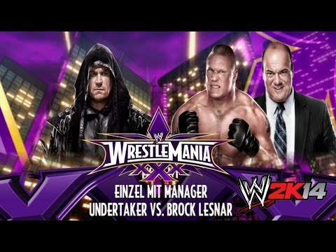 WWE 2K14 Wrestlemania 30 [HD] The Undertaker vs Brock Lesnar | The Streak