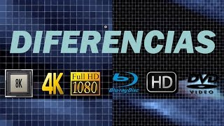 Diferencias entre 4K, HD, Full HD, Ultra HD, 8K, Televisores, Blu-ray y DVD, HD Ready Vs Quad HD