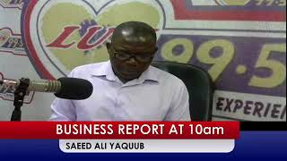 BUSINESS NEWS @1OAM ON LUV 99.5 FM