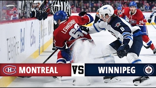 Montreal Canadiens vs Winnipeg Jets | Season Game 59 | Highlights (18/2/17)