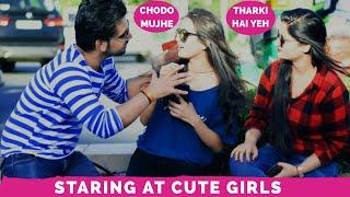STARING PRANK AT CUTE GIRLS || PRANKS IN INDIA || NEW PRANKS 2019 || HARSH CHAUDHARY