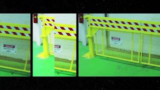 US Netting Defender Gate 10 Loading Dock Safety Gate with Crawl Guard