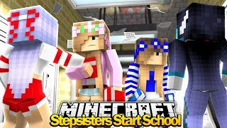 Minecraft Royal Family : EVIL STEPSISTERS JOIN SCHOOL! w/Little Kelly & Little Carly