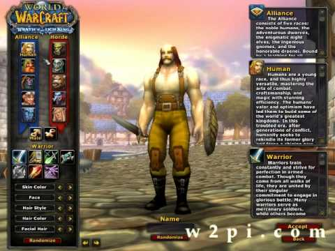 SyF's World of Warcraft Tutorial #1-2 Class Selection