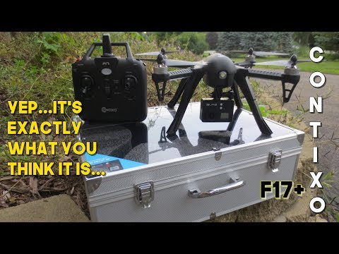 Contixo F17 Plus Unboxing Review and Flight Test - STRAIGHT UP BUGS 3 CLONE!! #1