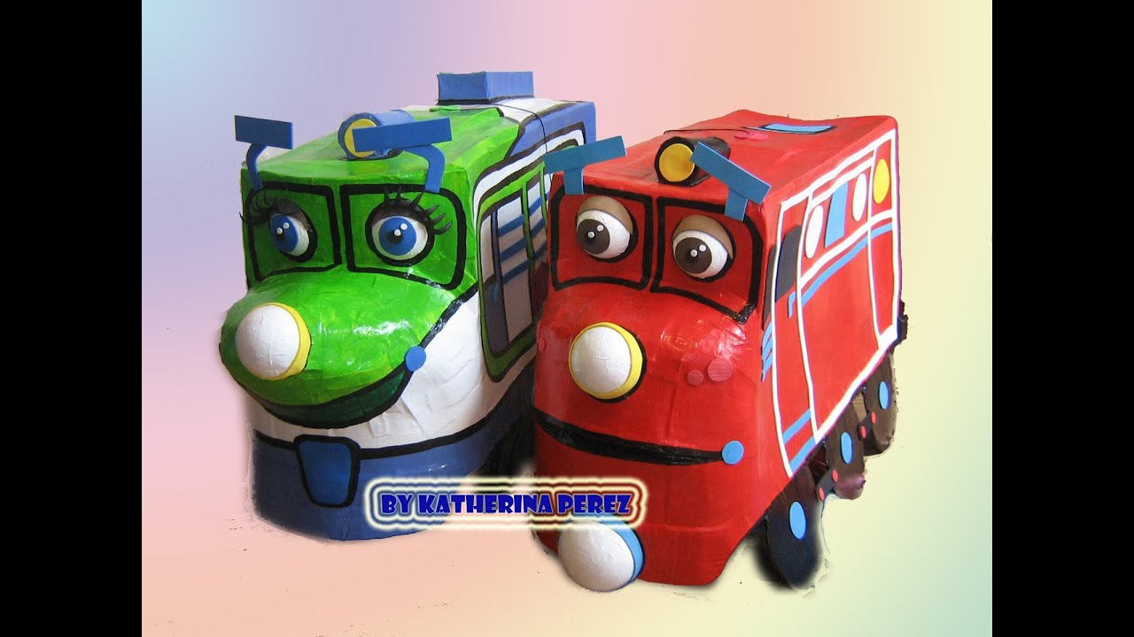 CHUGGINGTON KOKO & WILSON PINATA - YouTube