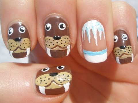 Walrus Nail Art Tutorial