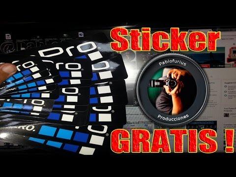 Adhesivos GoPro *GRATIS*   Tutorial en Español   @Pablofurius