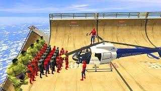 GTA 5 Crazy Ragdolls Spiderman Vs Marvel Heroes (Euphoria Physics, Ragdolls, Fails, Funny Moments)
