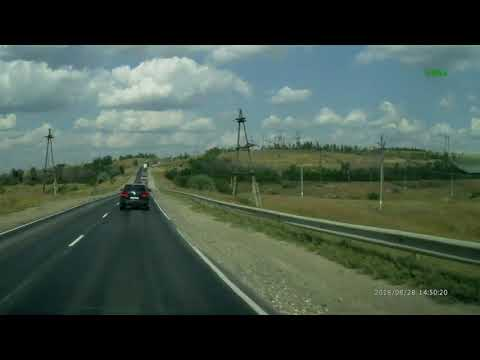 Очевидец снял автокатастрофу с грузовиками под Саратовом