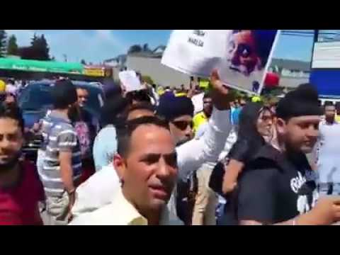 Protest against Sikander Singh Maluka in Canada (Real Video)