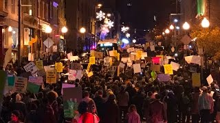 Anti Trump Protest in Baltimore Goes Massive