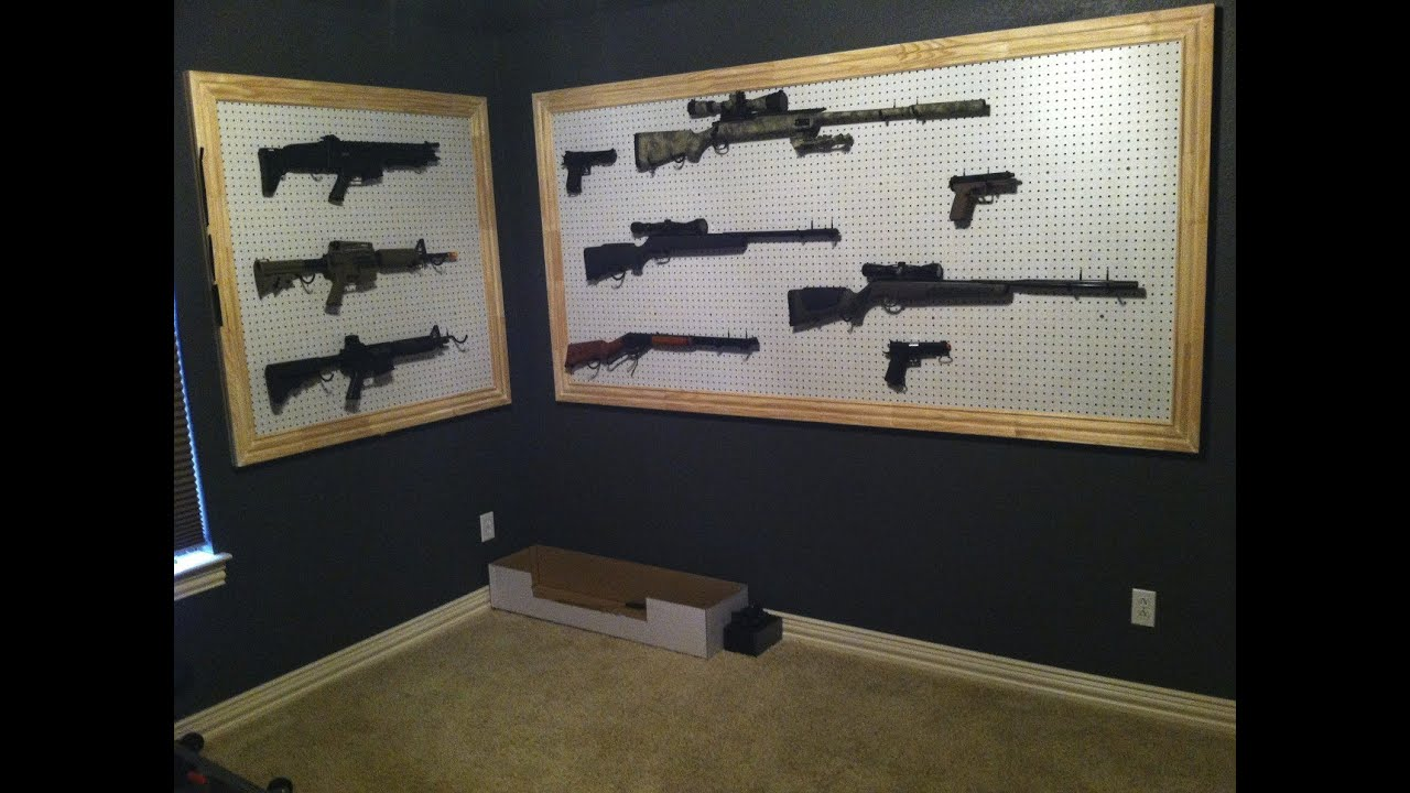 Airsoft gun room big airsoft collection youtube for How to build a gun room