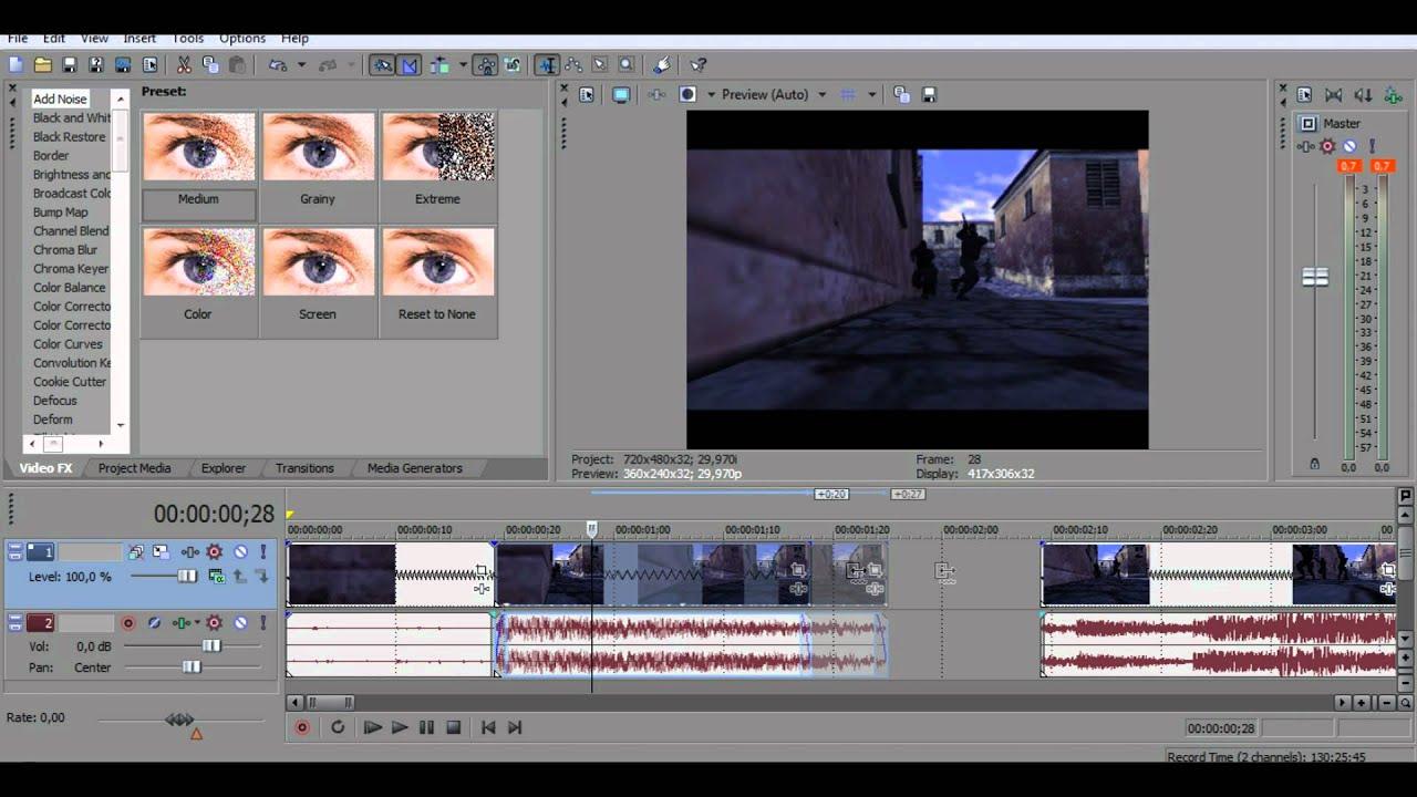 Как сделать замедленное видео в вегас про